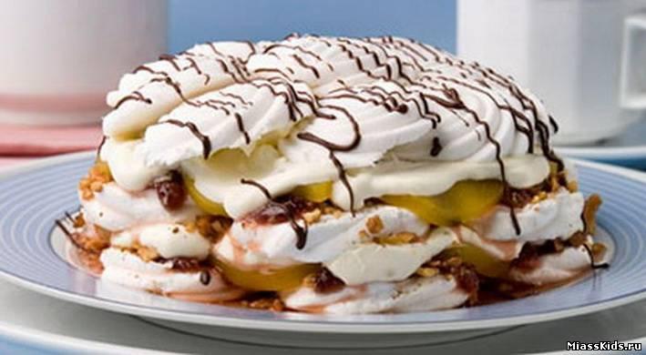 Зефирный торт без выпечки рецепт с фото